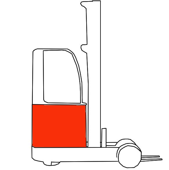 Schubmaststapler