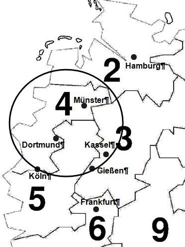 Deutschlandkarte UVV-Prüfung